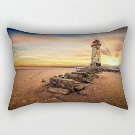 Lighthouse Sunset Wales Rectangular Pillow