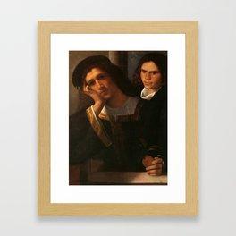 "Giorgione (Giorgio Barbarelli da Castelfranco) ""Double-Portrait"" Framed Art Print"