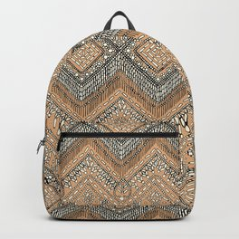 beaded chevron apricot Backpack