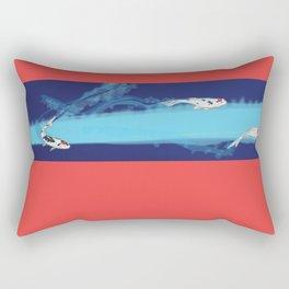 Speeding Koi Rectangular Pillow