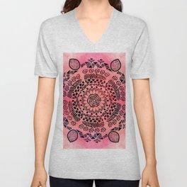 Pink Galaxy Mandala Unisex V-Neck