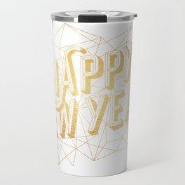 Happy New Year – White Travel Mug