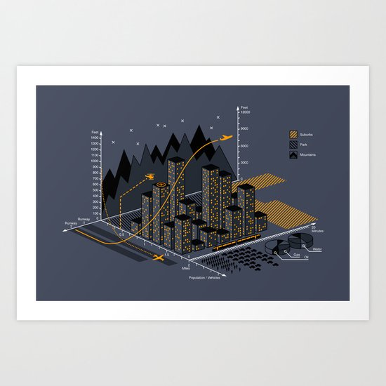 Stat City Art Print