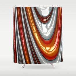 Orange Drip Shower Curtain