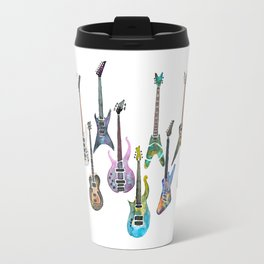 Electric Guitars Watercolor Travel Mug