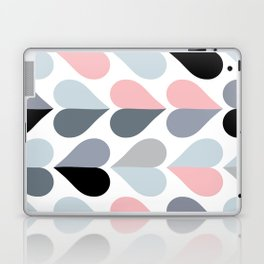 Love and Kisses in Pink and Grey Laptop & iPad Skin