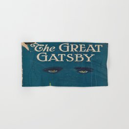 The Great Gatsby vintage book cover - Fitzgerald - muted tones Hand & Bath Towel