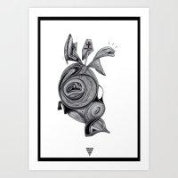 Bleuh bop 401 Art Print