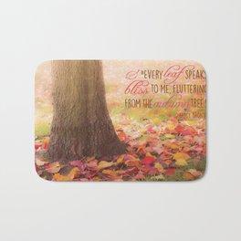 Autumn Leaves Poem Bath Mat