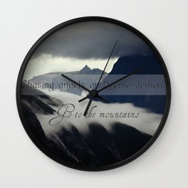 Angels or demons Wall Clock