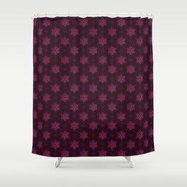 Festive Pink Snowflake Pattern Shower Curtain