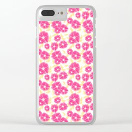 12 Sketched Mini Flowers Clear iPhone Case