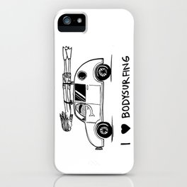I HEART BODYSURFING iPhone Case
