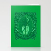 marijuana Stationery Cards featuring Medicinal Marijuana by victor calahan