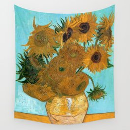 Vincent van Gogh - Still Life Vase with Twelve Sunflowers Wall Tapestry