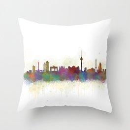 Berlin City Skyline HQ5 Throw Pillow