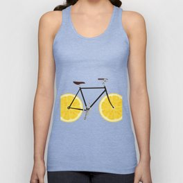 Lemon Bike Unisex Tank Top