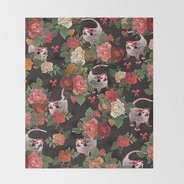 Opossum pattern Throw Blanket