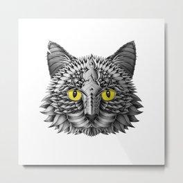 Ornate Black Cat Metal Print