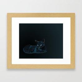 Biscut the Tabby Cat Framed Art Print