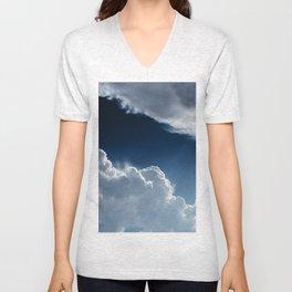 Sky, clouds and lights. Unisex V-Neck