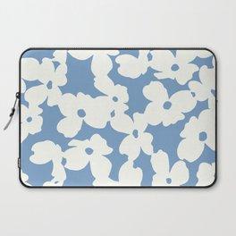 Dogwood Floral Print: Sky Blue Laptop Sleeve