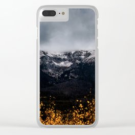 Yellow Tree Moutain Clear iPhone Case