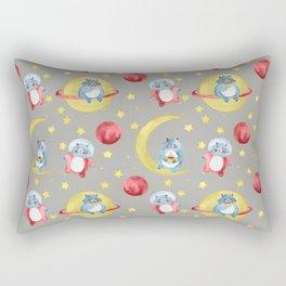 Yeti astronaut Rectangular Pillow