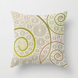 Specular spirals Throw Pillow