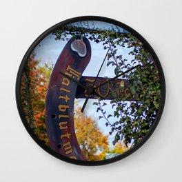 30. Jahre Kaltblutmarkt Laupheim Wall Clock