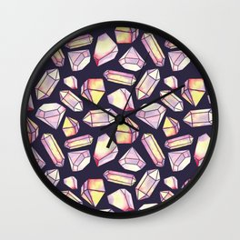 Geometrical colorful watercolor abstract diamond pattern Wall Clock