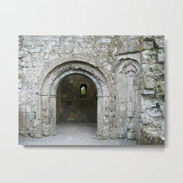 Clonmacnoise Ruins Archway Metal Print