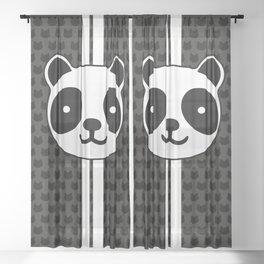 Racing Panda Sheer Curtain