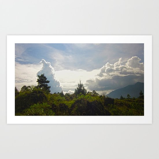 Invasion Of Clouds Art Print