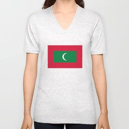 Maldives country flag Unisex V-Neck