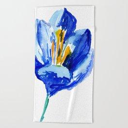 flower IX Beach Towel