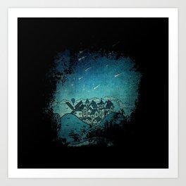 La Noche de las Estrellas Art Print