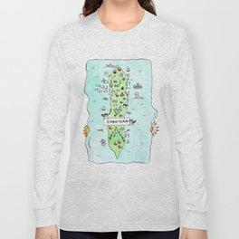 Lummi Island Map Long Sleeve T-shirt