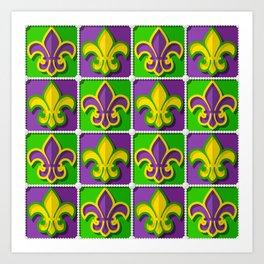 Mardi Gras  pattern Art Print