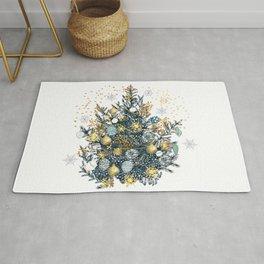 Christmas tree vector illustration Rug