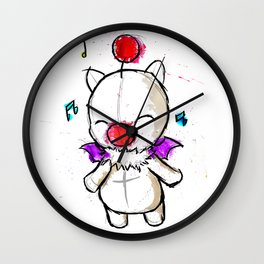 Watercolour Moogle  Wall Clock