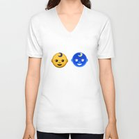 boob V-neck T-shirts featuring boob baby by M☽☾n Babies