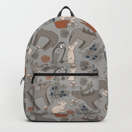 REINDEERS IN THE FOREST. Backpack