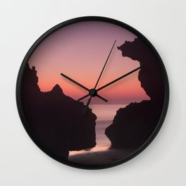 Roche Reefs At Sunset. Wall Clock