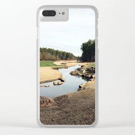 Golf Creek Winding Clear iPhone Case