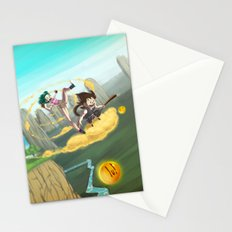 A ride with Son Goku Stationery Cards