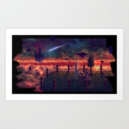 Skies of Arcadia: Star that Fell to Shrine Island.  Art Print