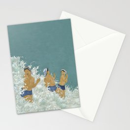 Three Ama Enveloped In A Crashing Wave Stationery Cards