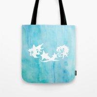 kingdom hearts Tote Bags featuring Kingdom Hearts Watercolor by Sierra Wheeler