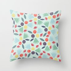 Berries & Leaves Throw Pillow